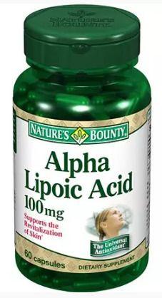 фото упаковки Natures Bounty Альфа-липоевая кислота