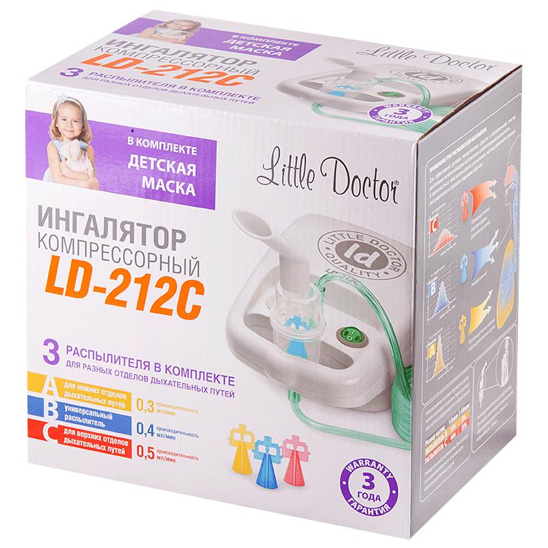 фото упаковки Ингалятор компрессорный Little Doctor LD-212С