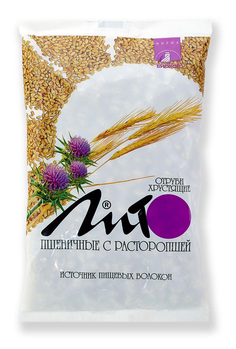фото упаковки Отруби хрустящие с кальцием Лито пшеничные с расторопшей