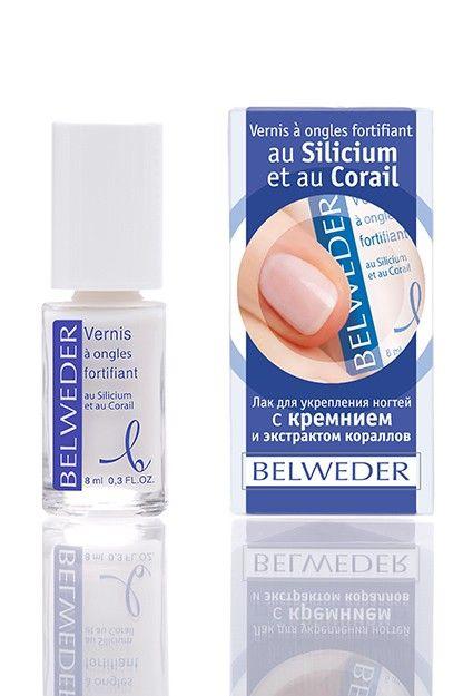фото упаковки Belweder Лак для укрепления ногтей с кремнием и экстрактом кораллов