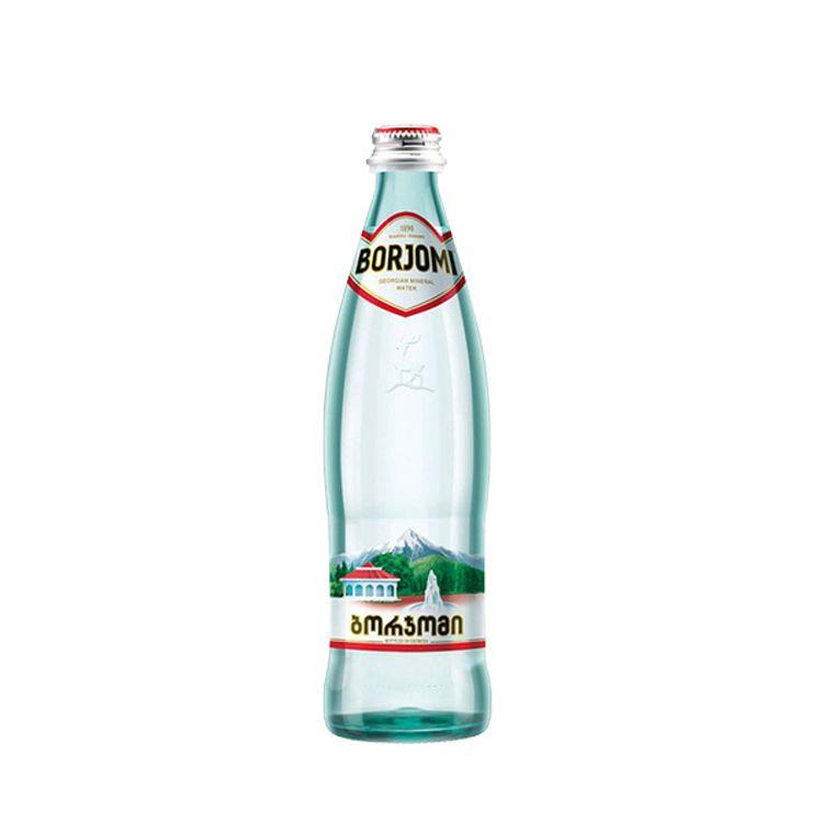 Вода минеральная Боржоми, лечебно-столовая газированная, в стеклянной бутылке, 0.5 л, 1 шт.