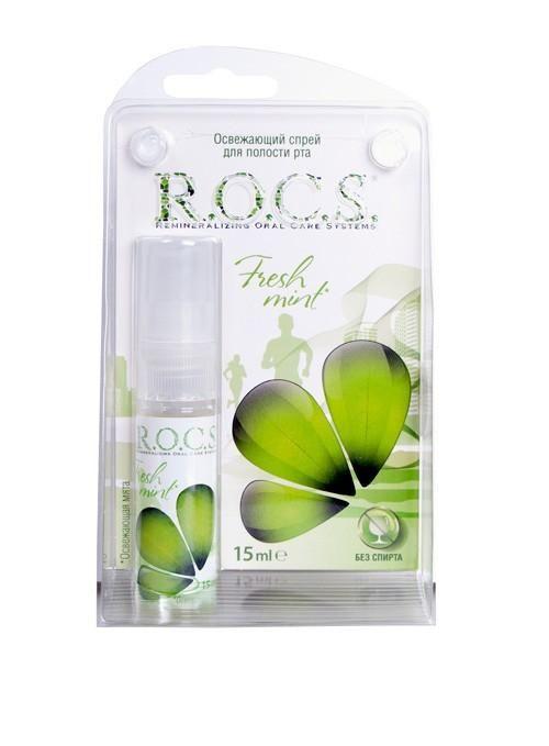 фото упаковки ROCS Спрей для полости рта Освежающая мята