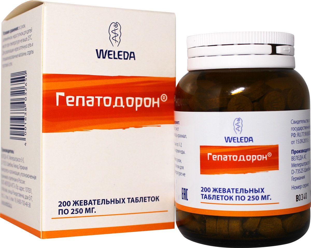 фото упаковки Weleda Гепатодорон таблетки жевательные
