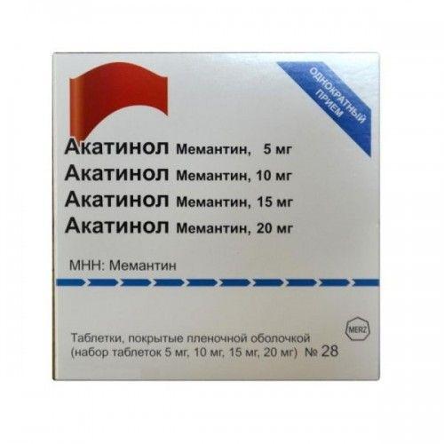 Акатинол Мемантин, 5/10/15/20 мг, набор таблеток, таблетки, покрытые пленочной оболочкой, 28 шт.