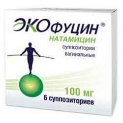 Экофуцин, 100 мг, суппозитории вагинальные, 6 шт.