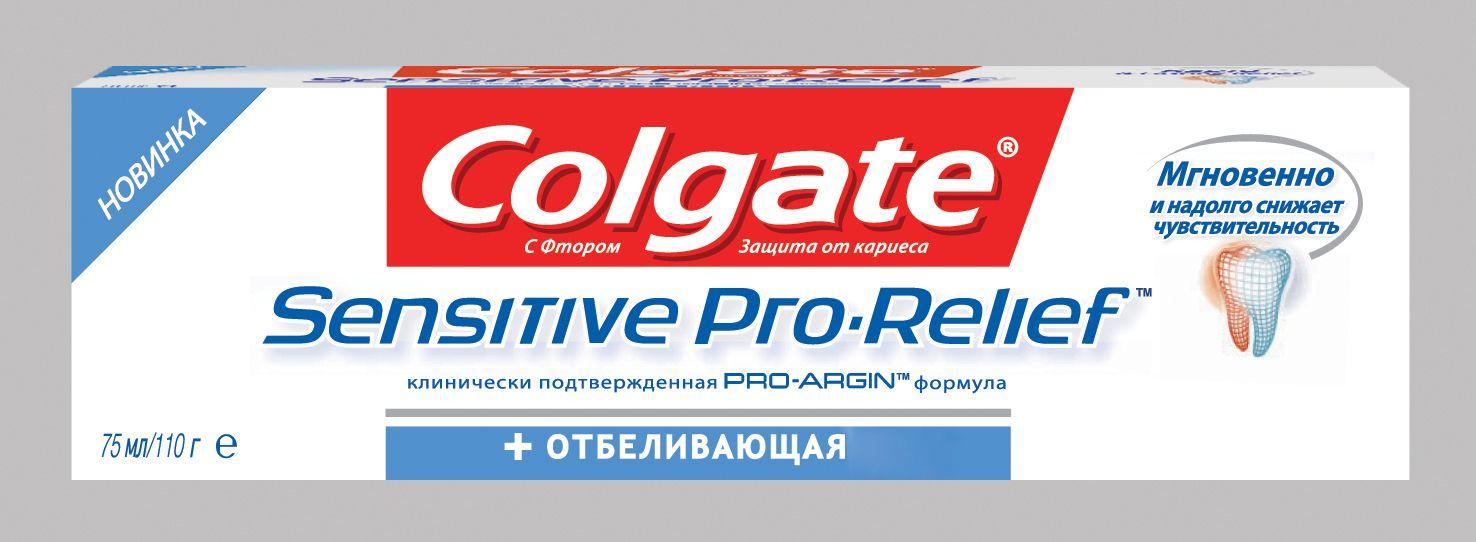 фото упаковки Colgate Про-Релиф для чувствительных зубов отбеливающая
