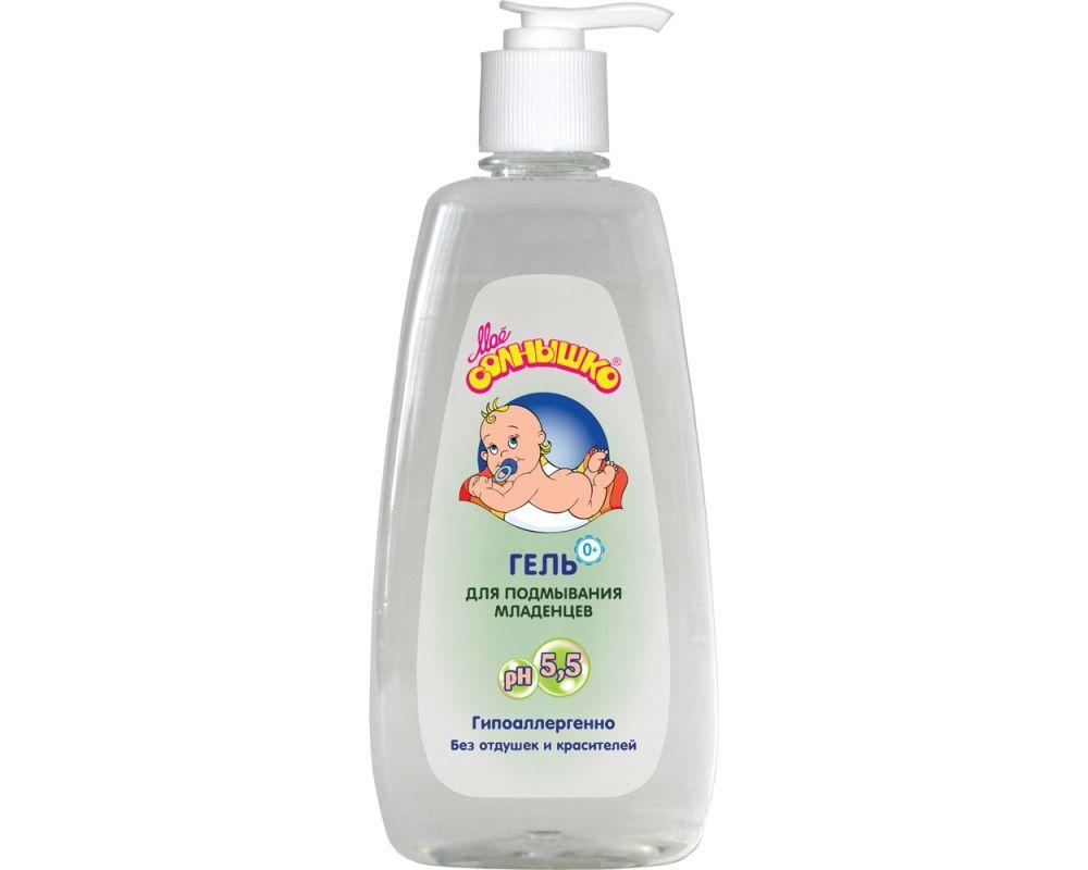 Гель для подмывания младенцев Мое солнышко, гель для детей, без отдушки, 400 мл, 1 шт.