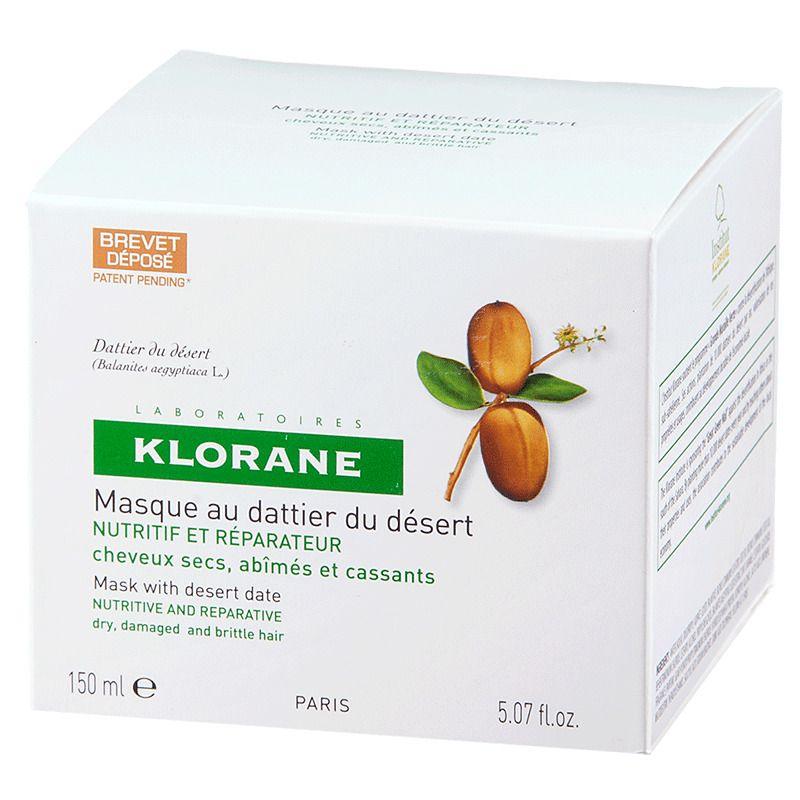 фото упаковки Klorane Питательно-восстанавливающая маска с маслом финика пустынного