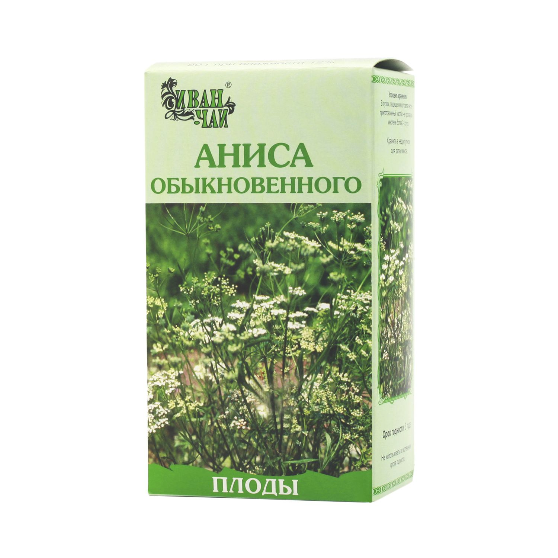 Аниса обыкновенного плоды, лекарственное растительное сырье, 50 г, 1 шт.