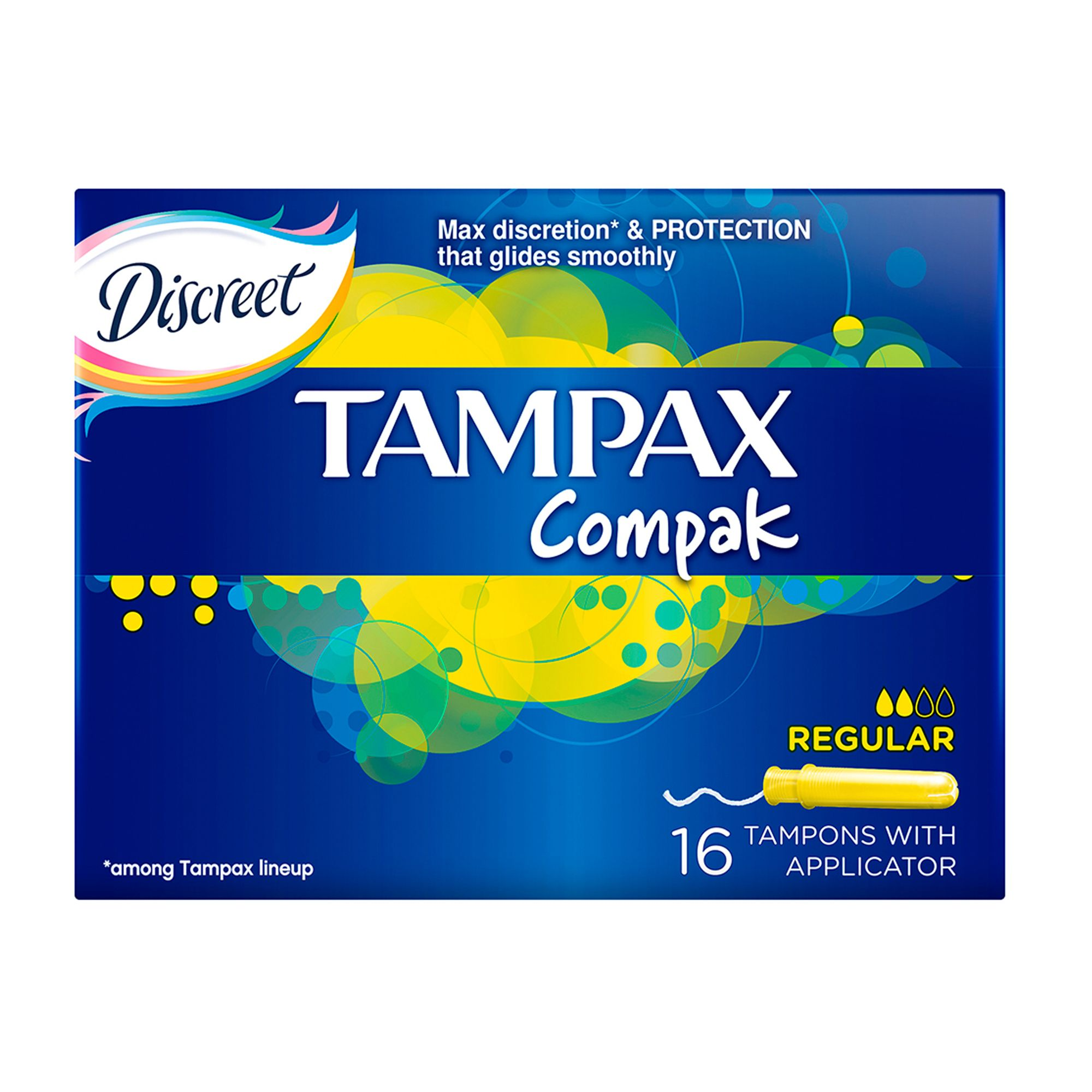 фото упаковки Tampax Compak regular тампоны женские гигиенические с аппликатором