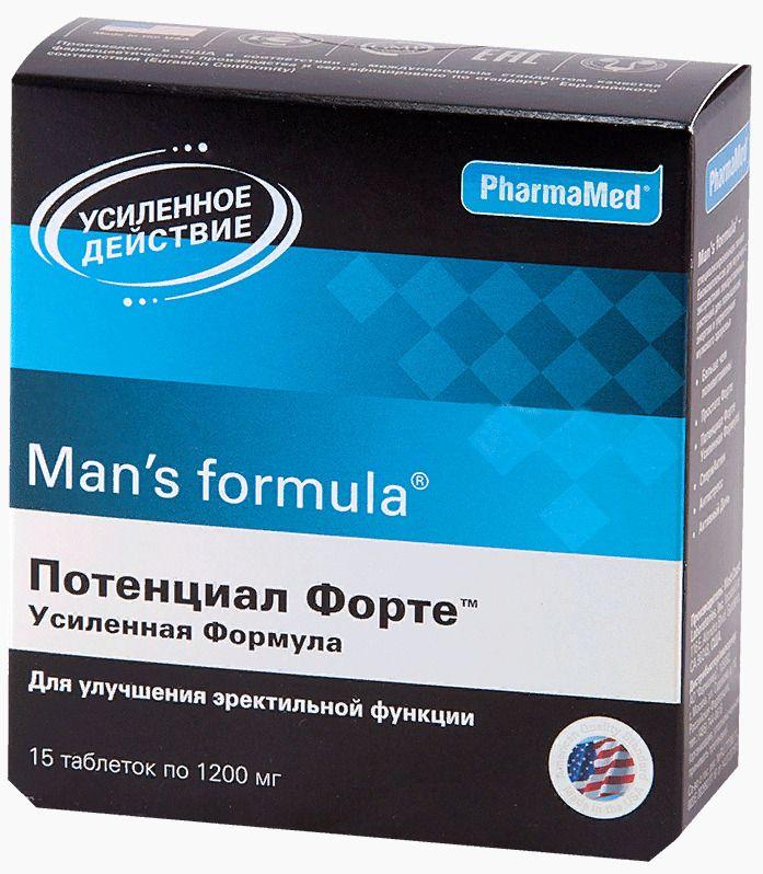 фото упаковки Man's formula Потенциал Форте Усиленная формула