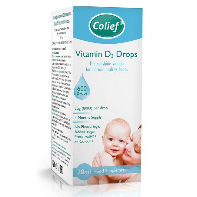 фото упаковки Colief Vitamin D3 Drops Колиф витамин Д3
