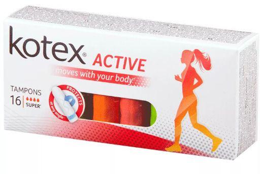 фото упаковки Kotex Active Super тампоны женские гигиенические
