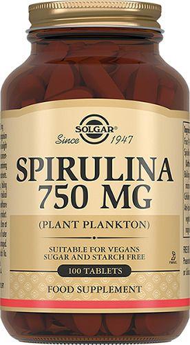 фото упаковки Solgar Спирулина 750 мг