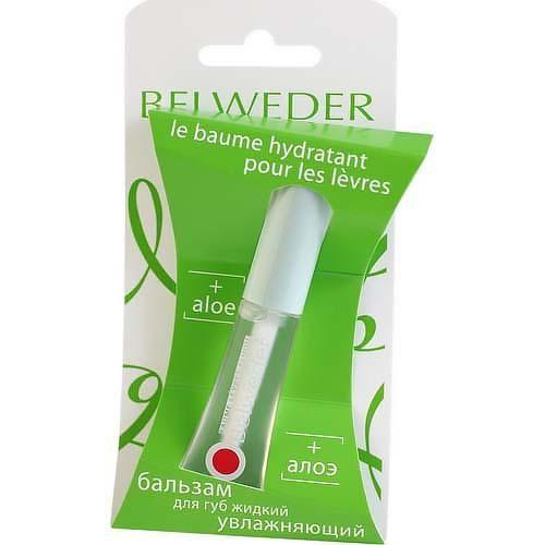 фото упаковки Belweder Бальзам для губ жидкий с экстрактом алоэ
