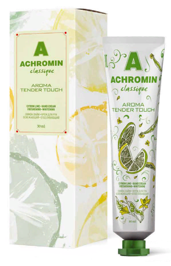фото упаковки Achromin крем для рук отбеливающий лимон-лайм