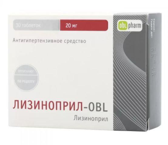 фото упаковки Лизиноприл-OBL
