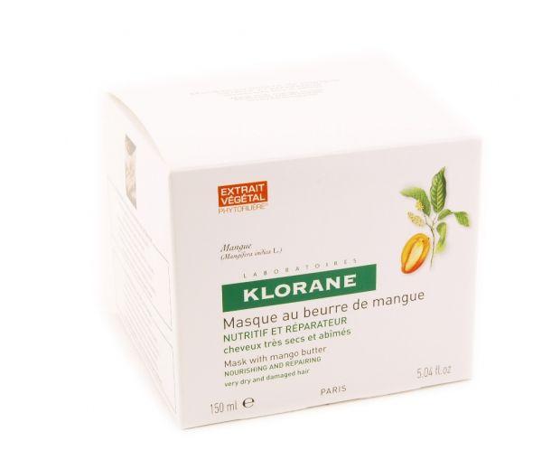 Klorane Питательная маска с маслом манго, крем-маска для волос, 150 мл, 1 шт.