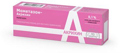 Мометазон-Акрихин, 0.1%, крем для наружного применения, 15 г, 1шт.