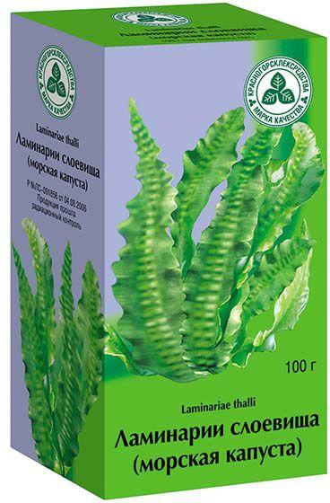 Ламинарии слоевища-морская капуста, сырье растительное измельченное, 100 г, 1 шт.