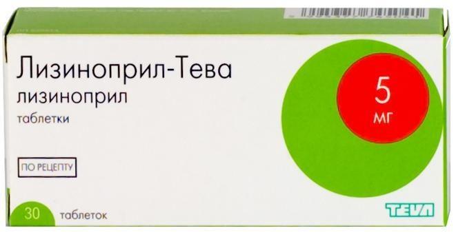 фото упаковки Лизиноприл-Тева
