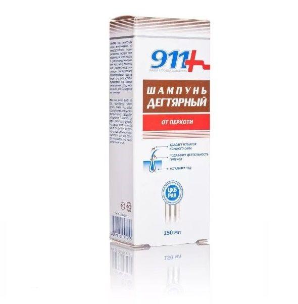 фото упаковки 911 шампунь Дегтярный