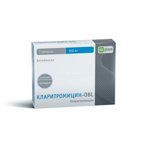фото упаковки Кларитромицин-OBL