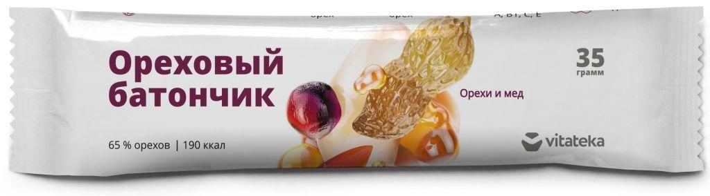 фото упаковки Витатека Батончик мюсли орех с медом с витамином С