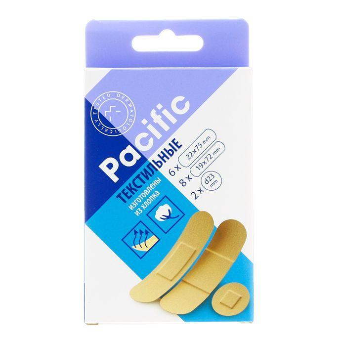 Pacific пластырь текстильный набор универсальный, пластырь, 16 шт.