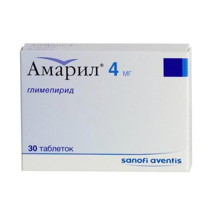Амарил, 4 мг, таблетки, 30 шт.