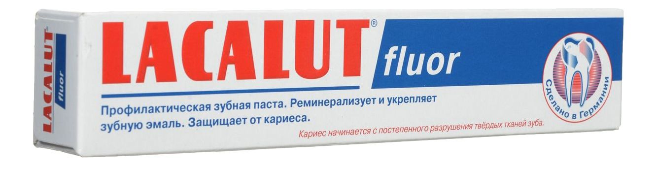 фото упаковки Lacalut Fluor зубная паста