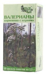 Валерианы корневища с корнями, сырье растительное измельченное, 1.5 г, 20 шт.