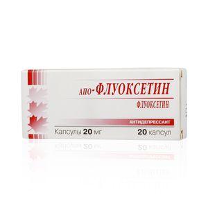 Апо-Флуоксетин, 20 мг, капсулы, 20 шт.