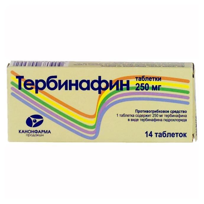 Тербинафин Канон, 250 мг, таблетки, 14шт.