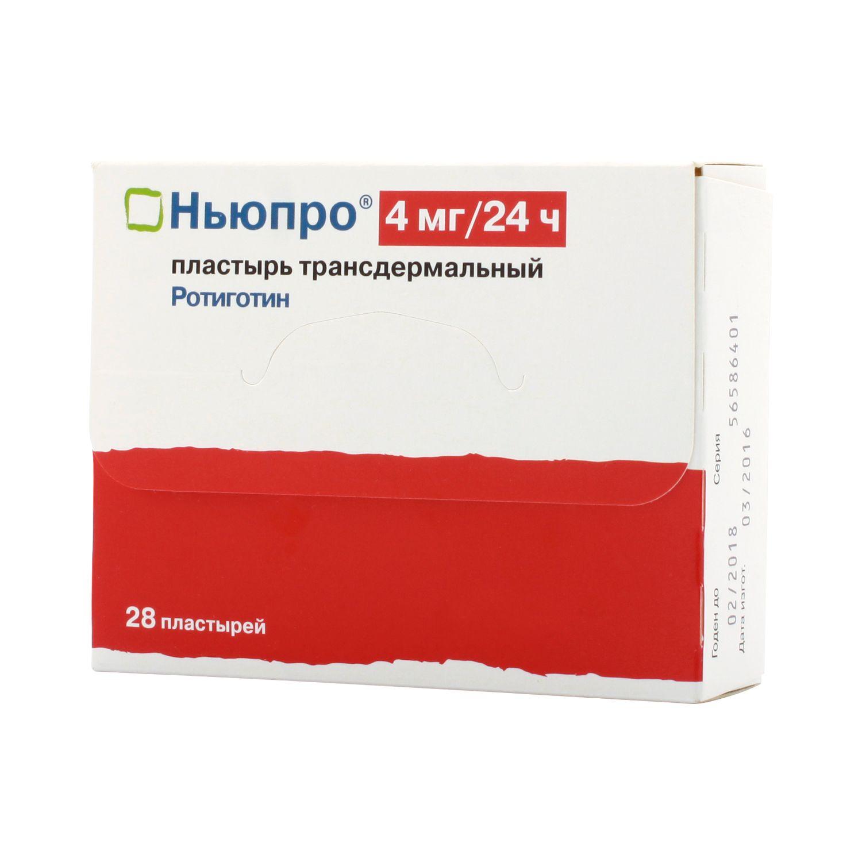 Ньюпро, 4 мг/сут, пластырь трансдермальный, 28 шт.