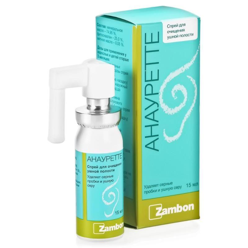 фото упаковки Анауретте Спрей для очищения ушной полости