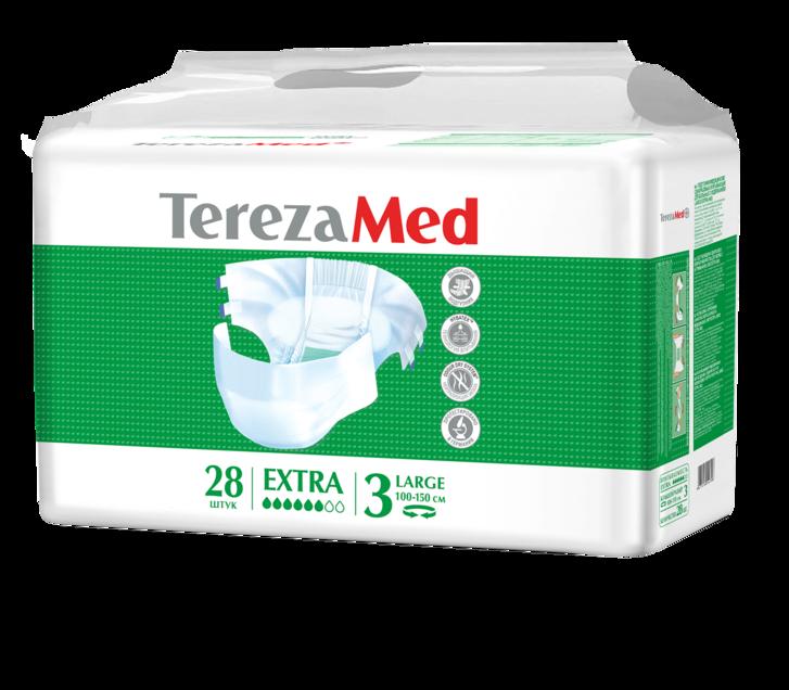 фото упаковки TerezaMed Extra подгузники для взрослых дневные