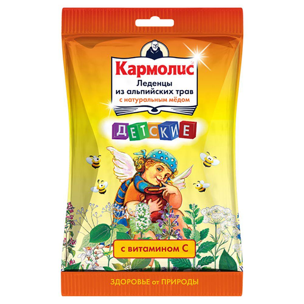 фото упаковки Кармолис Леденцы с медом и витамином С
