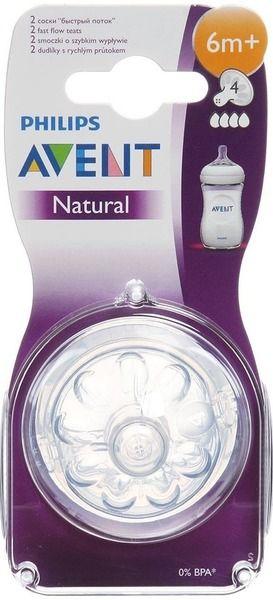 фото упаковки Соски Philips Avent Natural быстрый поток