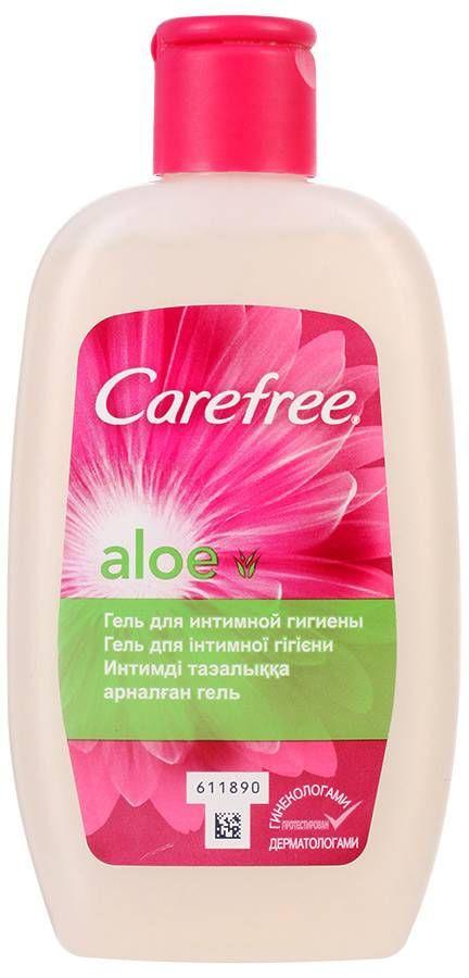 фото упаковки Carefree Aloe гель для интимной гигиены