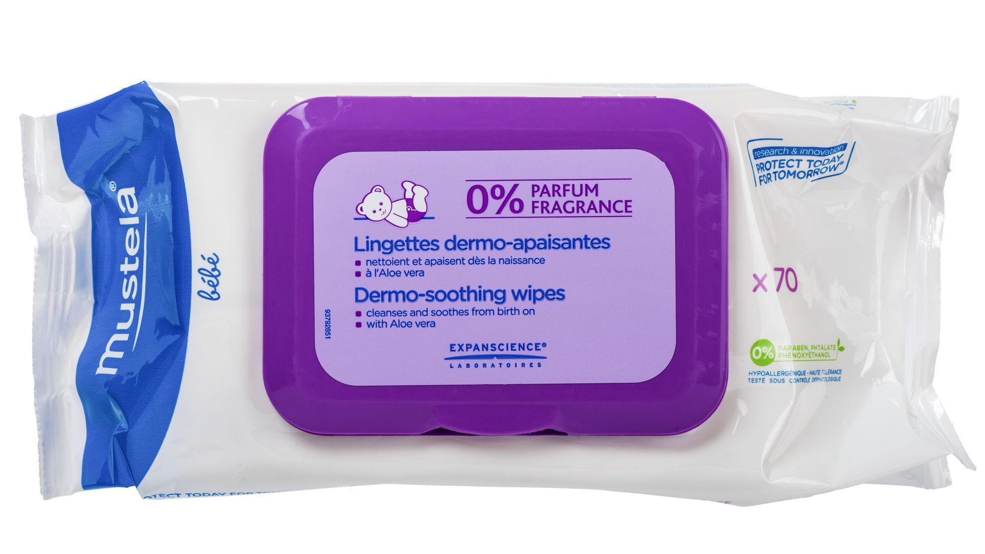 Mustela cалфетки очищающие и смягчающие для тела детские, салфетки, 70 шт.