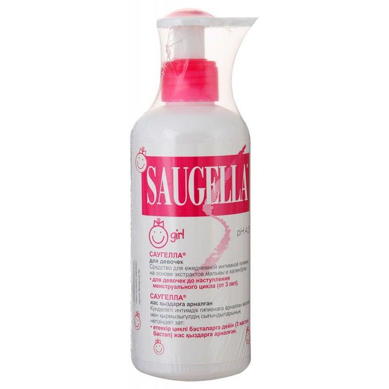 фото упаковки Saugella Girl Средство для интимной гигиены для девочек