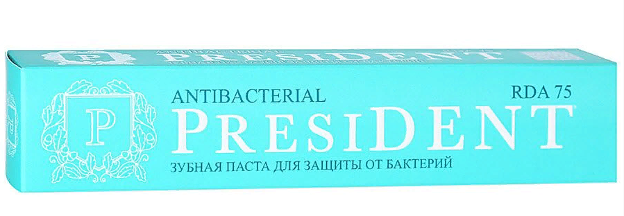 фото упаковки PresiDent Antibacterial зубная паста