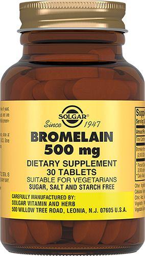 фото упаковки Solgar Бромелайн 500 мг
