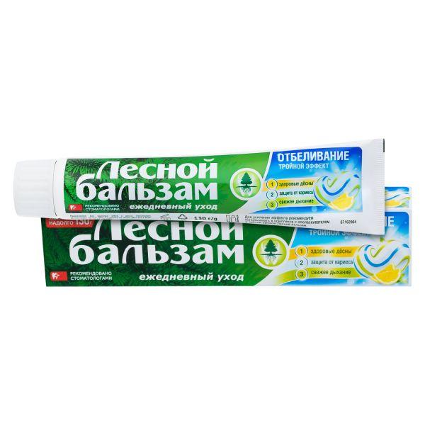фото упаковки Лесной бальзам Зубная паста Тройной эффект Отбеливание