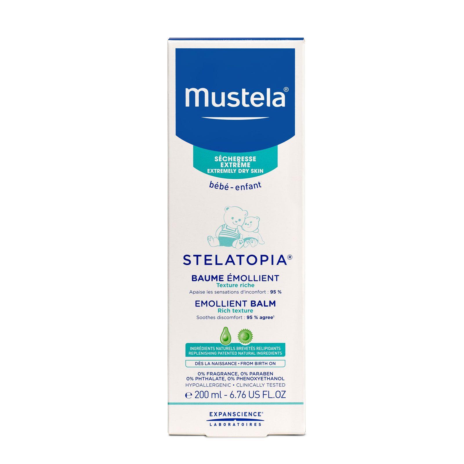 Mustela Stelatopia бальзам смягчающий для детей, бальзам для тела, 200 мл, 1 шт.