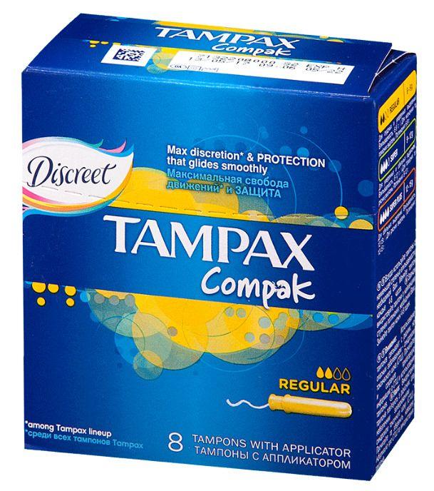 фото упаковки Tampax Compak regular тампоны с аппликатором