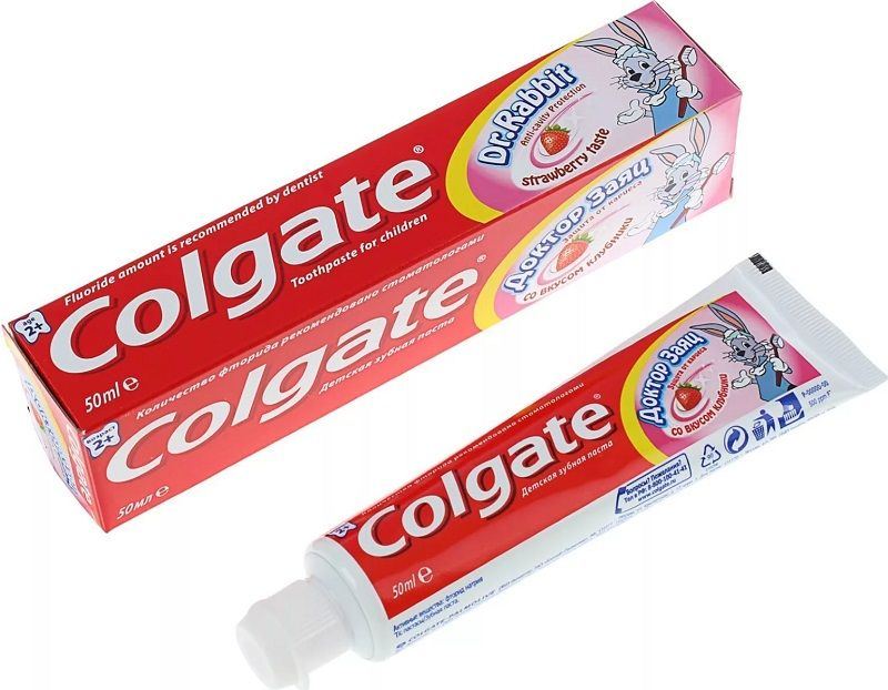 фото упаковки Colgate Доктор Заяц детская зубная паста