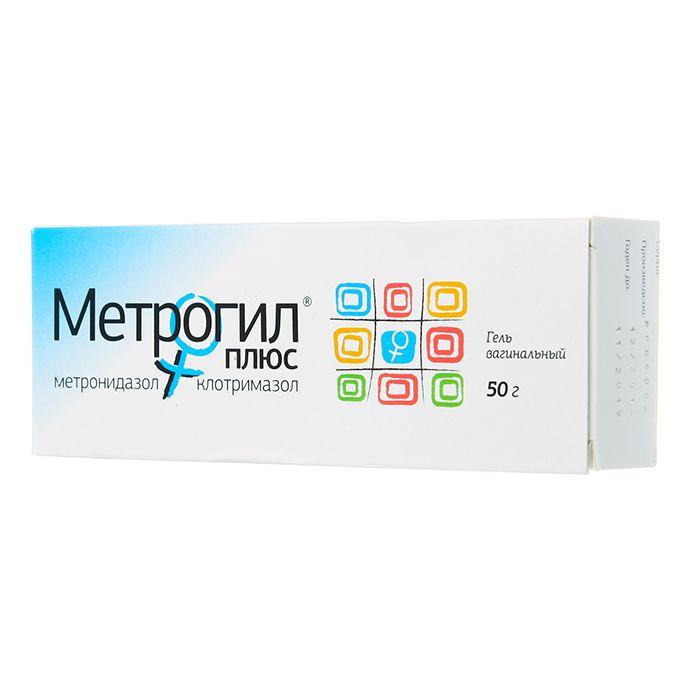 Метрогил Плюс, гель вагинальный, с аппликатором, 50 г, 1 шт.