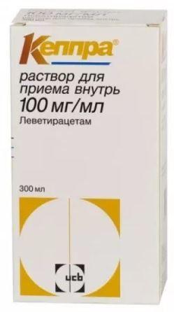Кеппра, 100 мг/мл, раствор для приема внутрь, 300 мл, 1 шт.